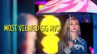 《Top 100》most viewed Kpop Girl group MVs