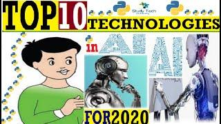 Top 10 Technologies in AI in 2020 in Hindi | Trending Technologies 2020 | Study Tech