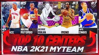 THE TOP 10 CENTERS IN NBA 2K21 MYTEAM!! OCTOBER 2K21 TOP 10 CENTERS IN THE GAME!!