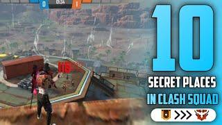 TOP 10 CLASH SQUAD SECRET PLACE FREE FIRE | PART - 6 | FREE FIRE TIPS AND TRICKS || GARENA FREE FIRE
