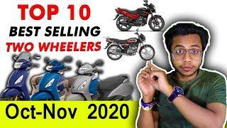 Top 10 BEST selling 2-WHEELERS November 2020 | Best Selling Two Wheelers in India By Rider Maurya