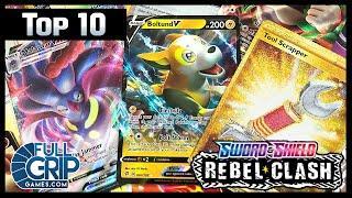 **TOP 10** Rebel Clash Pokemon Cards