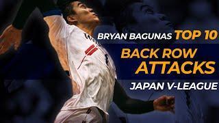 "TOP 10 POWERFUL BACK ROW ATTACKS BY BRYAN ""BAZOOKA"" BAGUNAS (SLOWMO)   JAPAN V-LEAGUE 2019-2020"