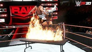 WWE 2K20 Top 10 Flaming Table Super Finishers (Epic)