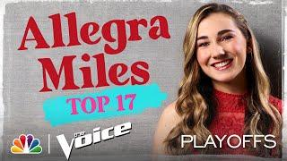 """Allegra Miles Sings Billy Joel's """"New York State of Mind"""" - The Voice Live Top 17 Performances 2020"""