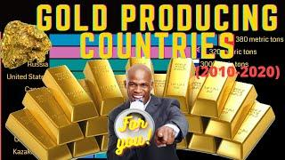 Top 10 largest gold producing countries from 2010 to 2020 | Gold production by country || #Gold