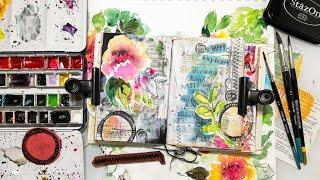 Mixed Media Collage in my Art Journal