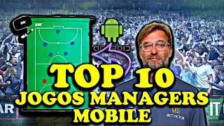 Jogos Managers Mobile ( TOP 10 JOGOS MANAGERS MOBILE ) CONHEÇA OS MELHORES JOGOS  DE TÉCNICO ⚽