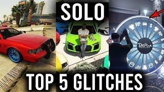 TOP 5 GLITCHES (Custom Police Car, Lucky Wheel Win the Car, Money Glitch and More!) GTA 5