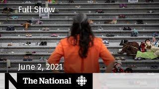 Catholic Church accountability, Ontario schools, The Tragically Hip   The National for June 2, 2021