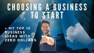How to Pick a Business Idea: Top 10 Businesses to Start with Zero Dollars