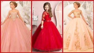 Top Stylish Party Wear Ball Gown Dress For Kids/Princes Style Birthday Dresses/Flower Girl Dresses