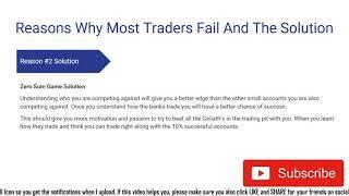 Top 10 Reasons Traders Fail In The Long Run Video Course Pt. 1 #demotradingroomschool