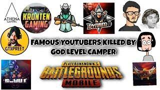 Top 10 Times Famous PUBG Mobile Streamers Killed By God Level Campers