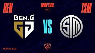 GEN vs TSM | Worlds Group Stage Day 2 | Gen.G vs Team SoloMid (2020)