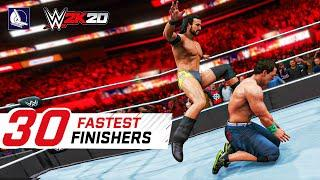 WWE 2K20 Top 30 Fastest Finishers (Reversals!) #2