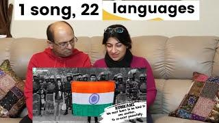 22 Languages, One Unity Song   15 Yr Old Has a Beautiful Message For India  American Indian REACTION
