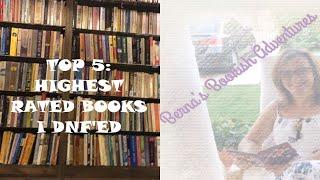 Top 5: Highest Rated Books I DNF'ed (some unpopular opinions)