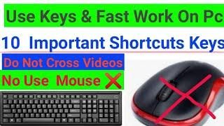 Most Shortcut Keys,Top 10 Keys,  All  Office Work , Ms Word Keys, Very Useful Keys