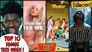 Billboard Top 10 This Week   (7 August. 2021), Billboard Top 10, Billboard Hot 100 Top 10