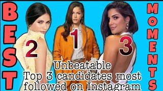 MISS UNIVERSE 2019 TOP 3 MOST FOLLOWED ON INSTAGRAM | BEST MOMENTS IN ATLANTA USA