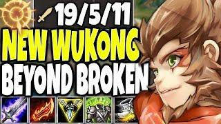 New Wukong Rework made him BEYOND BROKEN | Best Wukong Season 10 Build | LoL TOP Wukong s10 Gameplay