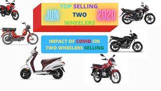 Impact of COVID On TWO WHEELER SELLING IN JUN 2020 (TOP SELLING BIKE)