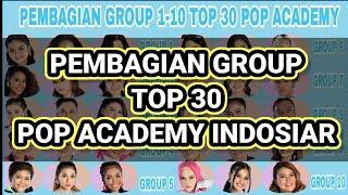PEMBAGIAN GROUP TOP 30 POP ACADEMY INDOSIAR 2020