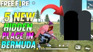 TOP 5 NEW HIDDEN PLACE IN FREE FIRE IN BERMUDA 2021 | FREE FIRE RANK PUSH TIPS AND TRICKS 2021